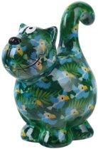 Pomme Pidou spaarpot kat Dorothy - Uitvoering - Groen met papegaaien