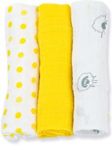 Lulujo medium swaddle 3-pack -Sunshine Yellow multidoeken medium geel 3pack