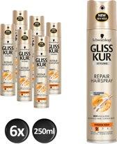 Schwarzkopf Gliss Kur Repair Haarspray- 6 stuks - Voordeelverpakking