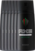 Axe Africa For Men - 6 x 150 ml - Deodorant Spray - Voordeelverpakking