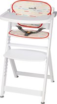 Safety 1st Timba with Cushion Kinderstoel - Red Lines/White Wood