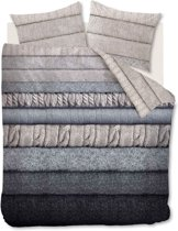 Beddinghouse Wigmore - Dekbedovertrek - Eenpersoons - 140x200/220 cm - Naturel