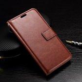 Cyclone cover wallet case hoesje LG K7 bruin