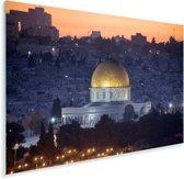 De verlichtte koepel in het Aziatische Jeruzalem Plexiglas 90x60 cm - Foto print op Glas (Plexiglas wanddecoratie)