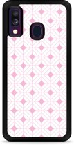 Galaxy A40 Hardcase hoesje Geometrisch Pink