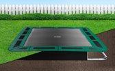 Flat To The Ground rechthoekige trampoline Capital Play 305x183 Groen inground