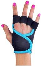 Black Turquoise - Fitness handschoenen S