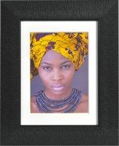 Henzo Africa Fotolijst - Fotomaat 18x24 cm - Zwart