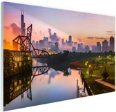 St Charles brug Glas 120x80 cm - Foto print op Glas (Plexiglas wanddecoratie)