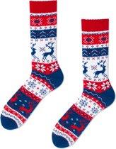 Toffe Sokken - Gekke Sokken - Leuke Sokken - Warme Rudolph - Maat: 35 t/m 38