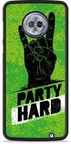 Moto G6 Plus Hardcase Hoesje Party Hard 3.0