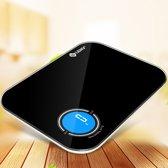 Digitale Keuken Weegschaal Glazen Weegplateau 8000g (8kg) - Zwart