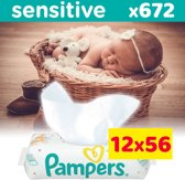 Pampers Sensitive Billendoekjes - 12 x 56 stuks