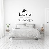 Muursticker The Love & The Memories -  Lichtblauw -  100 x 86 cm  - Muursticker4Sale