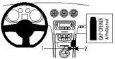 Brodit console mount voor Audi TT 07-