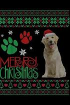 Merry Christmas: Merry Christmas Golden Retriever Holiday Dog Lover Journal/Notebook Blank Lined Ruled 6x9 100 Pages