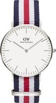 Daniel Wellington Classic Canterbury DW00100051 - Horloge - NATO - Blauw/Wit/Rood - Ø 36mm