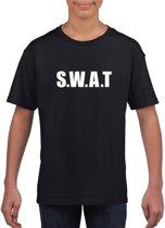 SWAT tekst t-shirt zwart kinderen M (134-140)