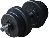 RS Sports Dumbellset – Halterset kunststof – Totaal 10 kg – zwart