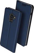 DUX DUCIS Samsung Galaxy A8 Plus (2018) hoesje - TPU Wallet Case - blauw