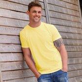Basic heren T-shirt geel S (48)