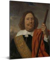 Portret van Egbert Meeuwsz Cortenaer - Schilderij van Bartholomeus van der Helst Aluminium 120x160 cm - Foto print op Aluminium (metaal wanddecoratie) XXL / Groot formaat!