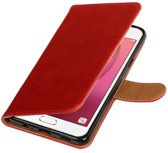 Wicked Narwal   Premium TPU PU Leder bookstyle / book case/ wallet case voor Samsung Galaxy C7 Rood