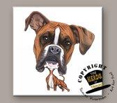 Tegel Hond Boxer