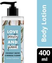 Love Beauty and Planet Body Lotion Luscious Hydration - 400 ml - Coconut Water & Mimosa Flower