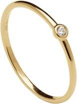 P D Paola 925 Sterling Zilveren Goudkleurige Essentials Ring  - goud