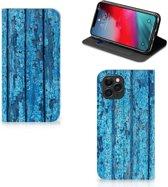 iPhone 11 Pro Book Wallet Case Blauw Wood
