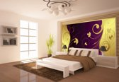 Yellow | Violet Photomural, wallcovering