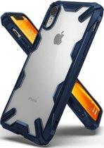 Ringke Fusion X Apple iPhone XR Hoesje Doorzichtig Blauw