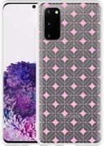 Samsung Galaxy S20 Hoesje Geometrisch Pink