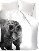 Ambiante Bear - dekbedovertrek - lits-jumeaux - 240x200/220 - Zwart