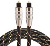 ETK Digital Optical kabel 1 meter / toslink audio male to male / Optische kabel nylon series - zwart