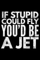 If stupid could fly You'd be a jet: Notebook (Journal, Diary) for those who love sarcasm - 120 lined pages to write in