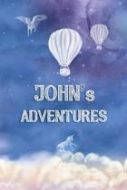 John's Adventures: Softcover Personalized Keepsake Journal, Custom Diary, Writing Notebook with Lined Pages