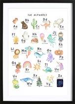 Alfabet Poster (21x29,7cm) - Tekst - Poster - Print - Wallified - Kinderen - Poster - Print - Kinderkamer - Wallified