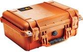 Peli 1450 Waterdichte Camerakoffer Oranje met Foam Interieur