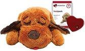 Smart Pet Love SnugglePuppy - Met warmtebron en hartslag - Bruin - 30 x 20 x 8 cm