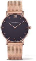 Paul Hewitt Sailor Line PH-SA-R-ST-B-4S - Horloge - Staal - Rosékleurig - Ø39mm