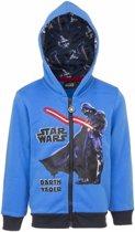 Star Wars sweater met rits blauw 140