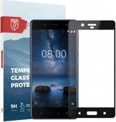 Rosso Nokia 8 9H Tempered Glass Screen Protector Zwart