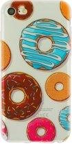 GadgetBay Doorzichtig donut TPU hoesje iPhone 7 8 case