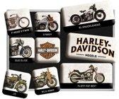 Nostalgic Art Magneet set Harley Davidson Model Chart