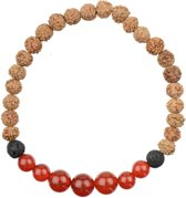 Carneool Rood Yoga Mala Armband | Zuben | L - 20 cm