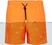Ramatuelle  Zwembroek Heren -  Magic Print Fluor Orange - Maat S
