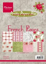 Marianne Design Pretty papers blocs » Cards en Colours » Pk9106 Paper bloc French Roses.