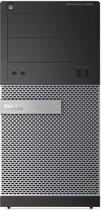 OptiPlex 3020 MT/i3-4160 (3.6Ghz 3MB)/4GB (1x4GB) 1600MHz/500GB SATA 7.2k 3.5i/Intel HD 4400/DVD RW/MUI Win7Pro64/Win8.1 OS DVD/1Yr NBD/Black